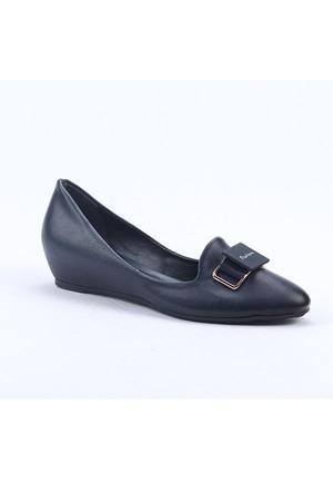 Cudo 00967 Ortopedik Stiletto Gizli Topuk Kadın Babet Ayakkabı