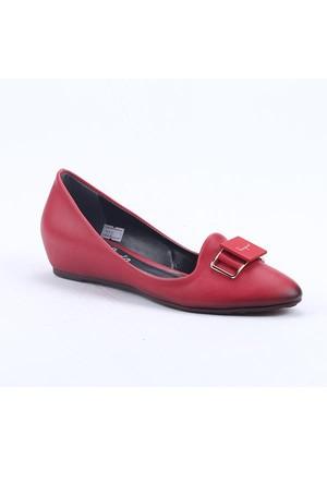 Cudo 00970 Ortopedik Stiletto Gizli Topuk Kadın Babet Ayakkabı