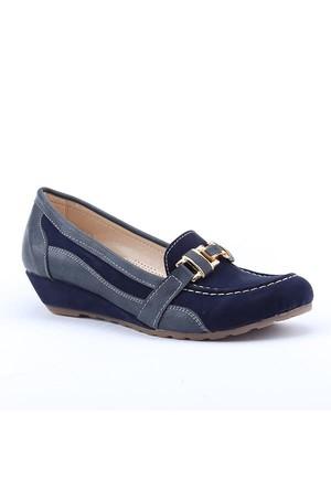 Rachel 2500 Günlük 3Cm Dolgu Topuk Ortapedik Kadın Babet Ayakkabı