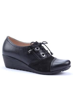 Dizzy Cilt Suet Dolgu Topuk Ayakkabı