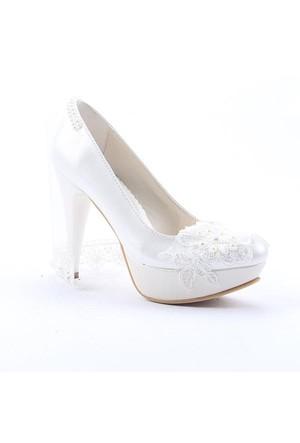 Fiore 4001 Abiye Gelinlik Stiletto Boy 12 Cm Kadın Topuklu Ayakkabı