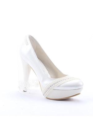 Fiore 4002 Abiye Gelinlik Stiletto Boy 12 Cm Kadın Topuklu Ayakkabı