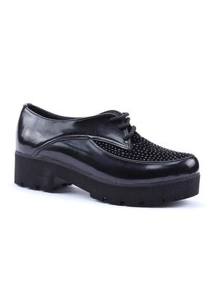 Caprito Günlük Kalın Taban Taşlı Topuklu Ayakkabı