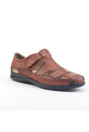 Emesto 5000 %100 Deri Confort Taban Ortdopedik Erkek Sandalet