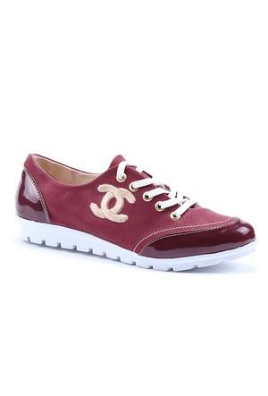 Haz Cilt Bağcıklı Kadın Spor Ayakkabı