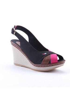 Leona Lewis 30556 Boy 9Cm Günlük Dolgu Topuk Keten Ayakkabı