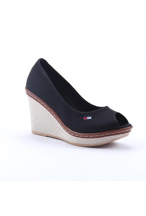 Leona Lewis 30570 Boy 9Cm Günlük Dolgu Topuk Keten Ayakkabı