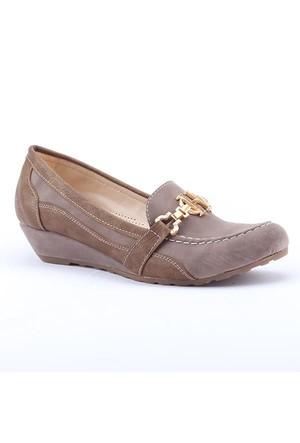 Ophelia 2500 Günlük 3Cm Dolgu Topuk Ortapedik Kadın Babet Ayakkabı