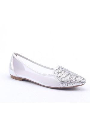 R.S.L Y-16150 Simli Taşlı Abiye Kadın Babet Ayakkabı