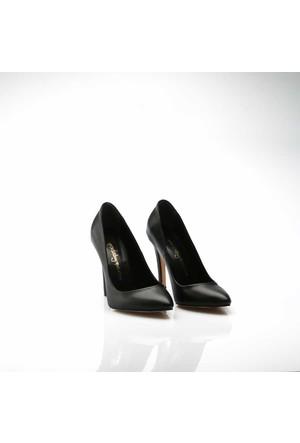 Modabuymus Siyah Mat Klasik Stiletto