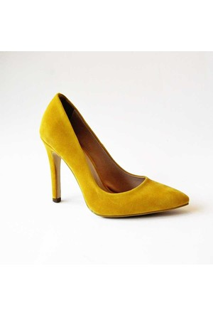 Modabuymus Sarı Süet Stiletto