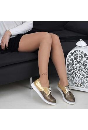 Modabuymus Beyaz Tabanlı Dore Bayan Oxford Ayakkabı