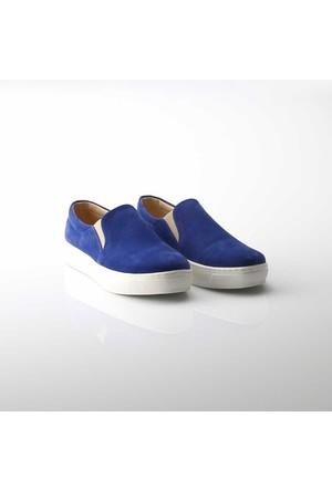 Modabuymus Sax Mavi Slipon Ayakkabı