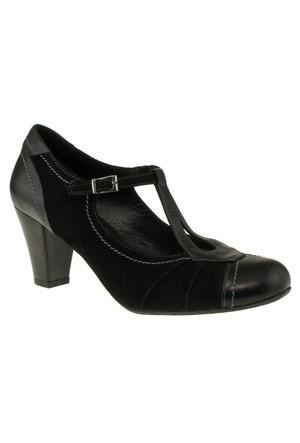 Gess -14857 Bilek Tokali Topuklu Siyah Kadın Ayakkabı