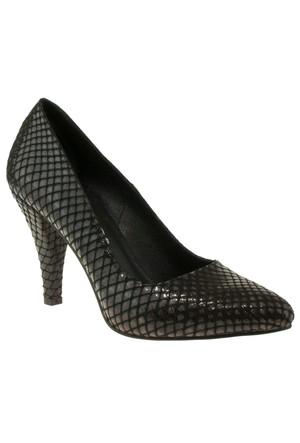 Gess 17201 Sivri Stiletto Siyah Kadın Ayakkabı