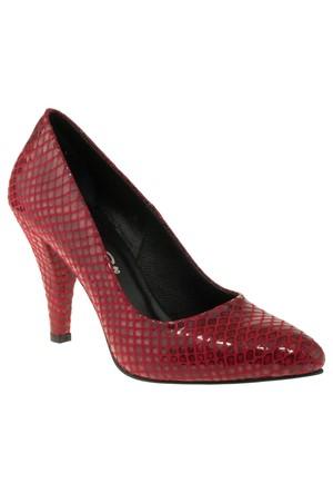 Gess 17201 Sivri Stiletto Kırmızı Kadın Ayakkabı