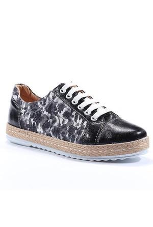 Nexs Günlük Rugan Çiçekli Simli Ayakkabı