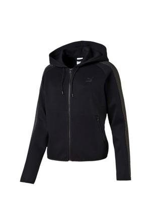 Puma 572004-01 Gold T7 Fullzip Hoody Black Kadın Sweat
