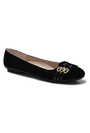 Büyük Numara Bayan Ayakkabı - Süet Bayan Babet GE-03
