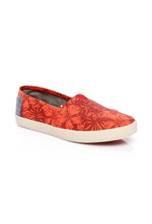 Toms Canvas Hıbıscus Wm Ava Slıpon 10007802.RED