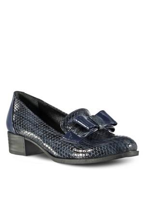 Marjin Ervum Deri Topuklu Ayakkabı Lacivert