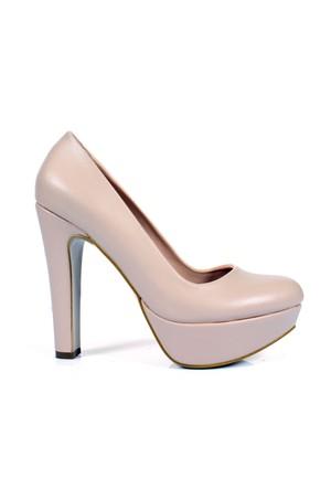 Shalin 196 Ten Platform Topuklu Bayan Ayakkabı
