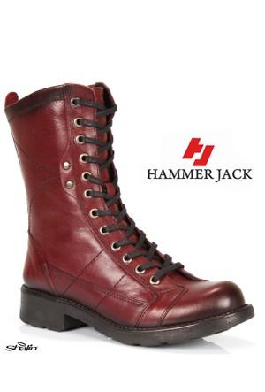 Hammer Jack 2977 Bordo Bağlı Hakiki Deri Kışlık Bayan Bot