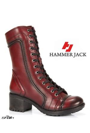 Hammer Jack 2979 Bordo Bağlı Hakiki Deri Kışlık Bayan Bot