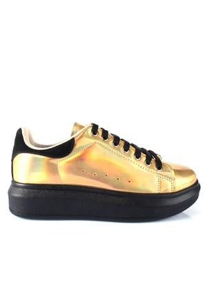 Shalin 2501 Altın Özel Tasarım Spor Bayan Ayakkabı