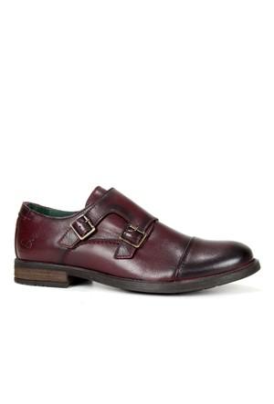 Freefoot Bordo Hakiki Deri Özel Tasarım Erkek Ayakkabı 6596