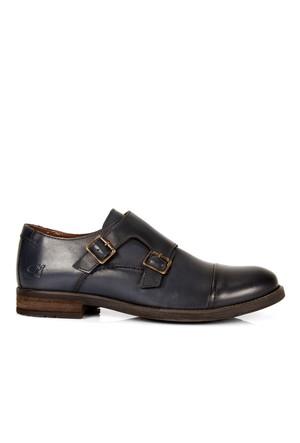 Freefoot Lacivert Hakiki Deri Özel Tasarım Erkek Ayakkabı 6596