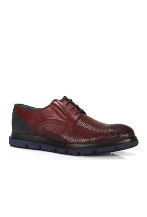 Shalin 2565 Bordo Hakiki Deri Özel Tasarım Erkek Ayakkabı