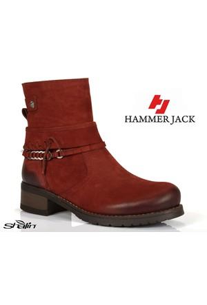 Hammer Jack 450 Bordo Nubuk Hakiki Deri Bayan Bot