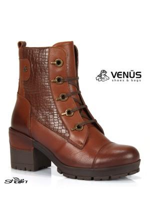 Venüs 1611604 Kahve Hakiki Deri Postal Tarz Kadın Bot