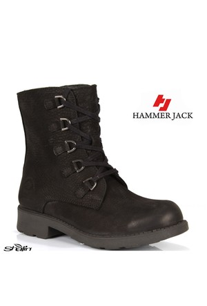 Hammer Jack 16965 Siyah Hakiki Deri Kadın Bot