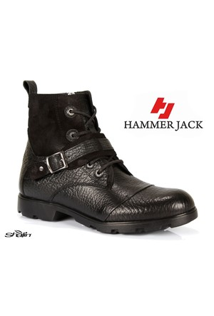 Hammer Jack 15120 Siyah Hakiki Deri Erkek Bot