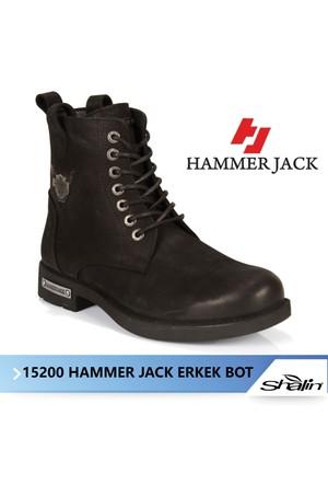 Hammer Jack 15200 Siyah Hakiki Deri Erkek Bot