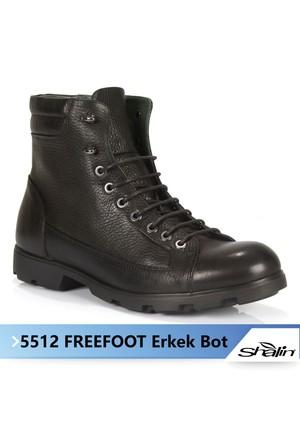 Freefoot 5512 Siyah Hakiki Deri Erkek Bot
