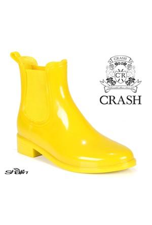Crash 19 Sarı Lastikli Bayan Yağmur Botu