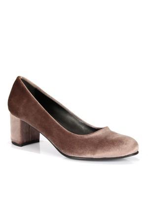 Shalin Vizon Özel Tasarım Kadife Topuklu Kadın Ayakkabı