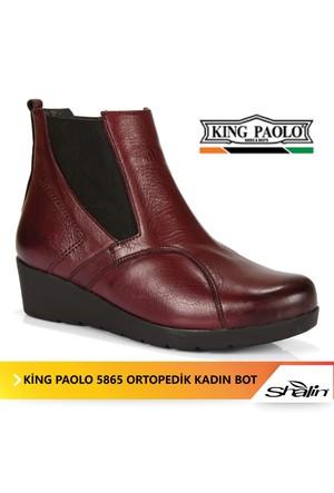 King Paolo 5865 Hakiki Deri Tam Ortopedik Kadın Bot