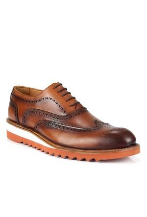 Shalin 671 Taba Hakiki Deri Bağcıklı Erkek Ayakkabı