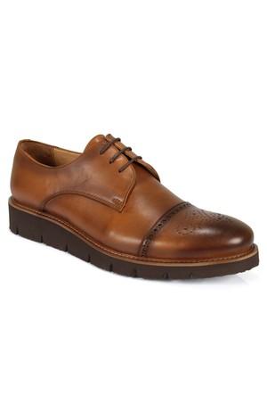 Shalin 756 Taba Hakiki Deri Bağcıklı Erkek Ayakkabı