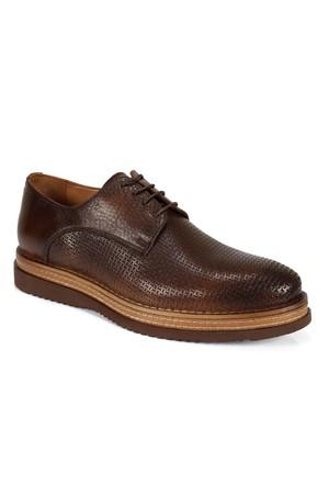 Shalin 482 Kahve Hakiki Deri Bağcıklı Erkek Ayakkabı