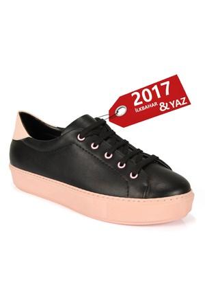 Shalin 045 Pudra Bağlı Spor Bayan Ayakkabı