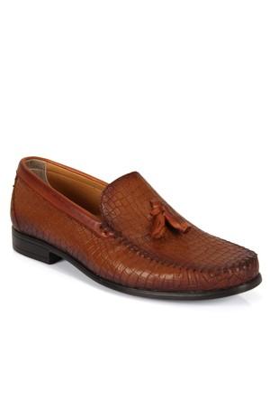Hammer Jack 8005 Taba Püsküllü Baskılı Loafer Erkek Ayakkabı