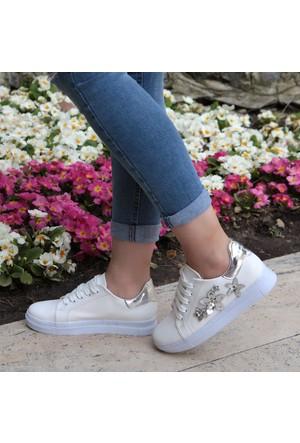 Shalin Tbu Miranda Byz Gümüş Günlük Spor Ayakkabı Bayan