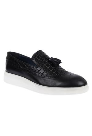 Shalin 1010 Siyah Hakiki Deri Casual Erkek Ayakkabı