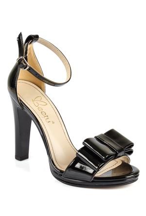 Beety 508 Siyah Rugan Topuklu Bayan Sandalet