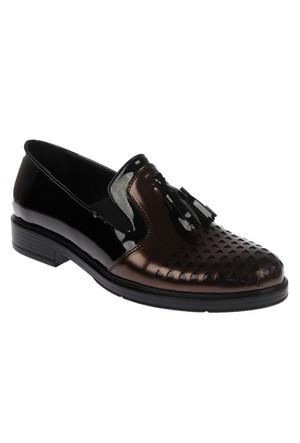Beety 5215 Siyah Püsküllü Günlük Bayan Ayakkabı